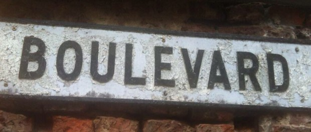 The Boulevard street sign at the corner of Boulevard and Hessle Road.