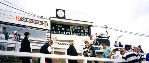 The Airlie Street End scoreboard.
