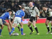 Hull FC back rowers Gareth Ellis and Mark Minichiello. Image: Jerome Ellerby / Hull Daily Mail