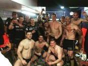 Hull FC celebrate their win over Rovers!