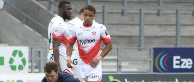 Levy (far left) playing for St Helens Reserves back in 2016.